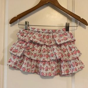 5/$15 SALE JANIE AND JACK Floral Corduroy Skirt 2T